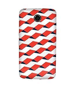 Geometric Red Pattern Motorola Nexus 6 Case