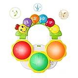 Wishtime 光と音がいっぱい ベビー ドラム おもちゃ 18ヶ月から 赤ちゃん 幼児 音楽 玩具 楽器【お誕生日プレゼント 子どもの日】 ランキングお取り寄せ