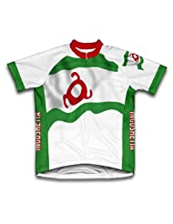 Ingushetia Flag Short Sleeve Cycling Jersey for Women