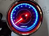 LED ミニ スピードメーター & タコメーター 汎用 バイク