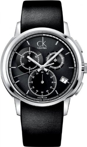Calvin Klein Drive Chronograph Black Mens Watch K1V27102