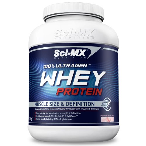Sci-MX Nutrition 100% Ultragen 2280 g Strawberry Whey Protein Shake Powder
