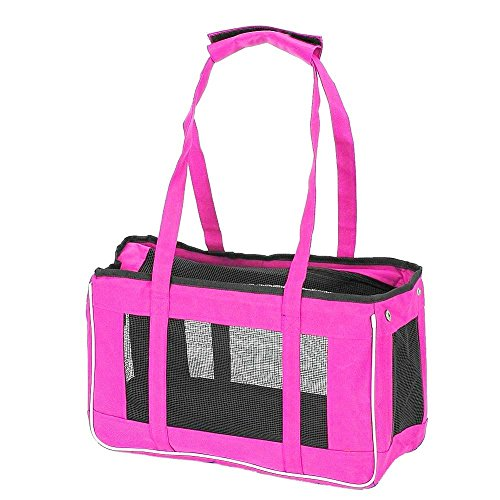 Stylish Hot Pink Soft Sided Pet Carrier