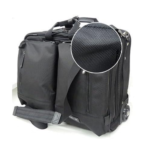 (アイエス・プラス)is・+ 2輪/横型/ビジネスキャリーバッグ/100席以上機内持ち込みサイズ/交換用キャスターキット付/ショルダーベルト付/レインカバー付 230-1057 (クロ)