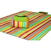 Salsa Stripe Picnic Plus Mega Mat Picnic Blanket