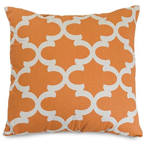 Majestic Home Goods Trellis Pillow, X-Large, Peach front-714266