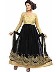 Trendz Apparels Black Net Anarkali Suit Salwar Suit