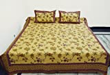 Indian Hand Block Printed Cotton Home Furnishing Bedspread with Pillow Cove ....