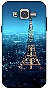 The Racoon Lean printed designer hard back mobile phone case cover for Samsung Galaxy J2. (eiffel tow)