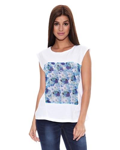Springfield Camiseta T Flor Chifon