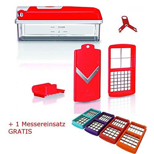 Nicer Dicer kompakt rot 5 tlg.+ 1 gratis Messereinsatz