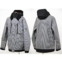 Buy 686 X Dickies Industrial Insulated Jacket - Mens Black Railroad Stripe, XL by 686