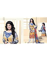 Chandni Chowk Cotton Semi Stiched Salwar Suit - B019RQ1QPA