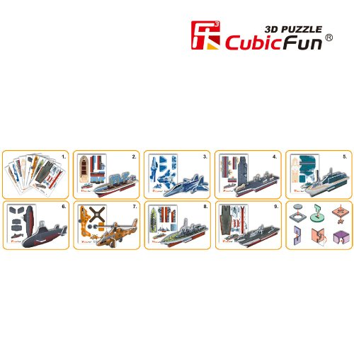 CubicFun S3023H Mini Military Series #2 Puzzle