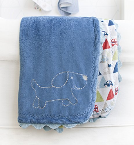 Kidsline Roadmap Velour Rick-Rack Blanket