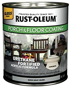 Rust-Oleum 244848 Porch Floor Paint, Dove Gray Gloss, 1-Quart