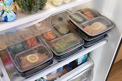 Meal Prep Containers 3 Compartment -