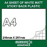 5 SHEET PACK - A4 SIZE WHITE MATT FABLON TYPE STICKY BACK PLASTIC SELF ADHESIVE VINYL