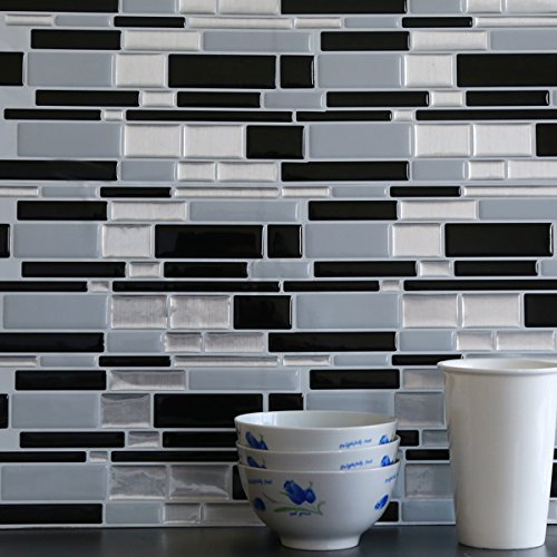 fancy fix vinyl peel and stick decorative backsplash kitchen tile pack
