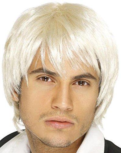 [Popcandy Platinum Blonde Boy Band Wig] (Boy George 80s Costume)