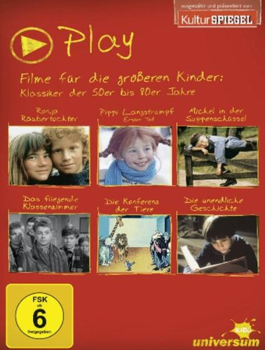 Play Box 2 - Filme für die größeren Kinder: Klassiker der 50er bis 90er Jahre [6 DVDs]