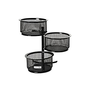 Rolodex Mesh Collection 3-Tier Swivel Tower Sorter, Black (62533) by Rolodex
