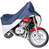 Classic Accessories 65-005-033501-00 MotoGear Motorcyle Cover, Blue/Silver, Large