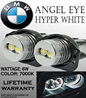 One Pair E90 E91 63117161444 Bmw Angel Eye Halo Ring Led Bulbs 7k White by Tutti Racing