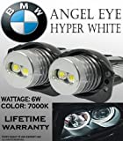 ONE PAIR E90, E91, 63117161444 BMW ANGEL EYE HALO RING LED BULBS 7K WHITE