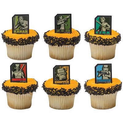 Star Wars Rebels Regiment Cupcake Rings - 24 ct - 1