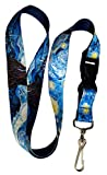 Henry the Buttonsmith Van Gogh Starry Night Premium Lanyard