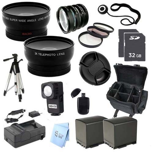 Ultra Pro Accessory Package: For Canon Vixia Hf M30 Dual Flash Memory Camcorder