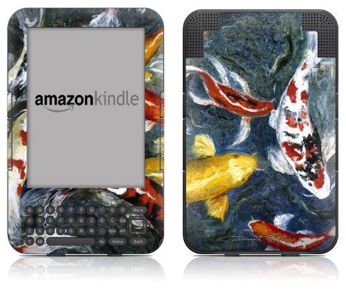 DecalGirl Kindle Skin (Fits Kindle Keyboard) Koi's Happiness (Matte Finish)