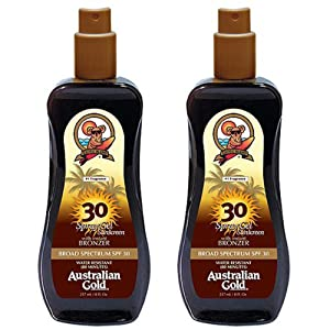 2 Pack SPF 30 Spray Gel Sunscreen with Bronzer