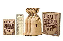 Barbuzzo Craft Beer Tasting Kit, Brown