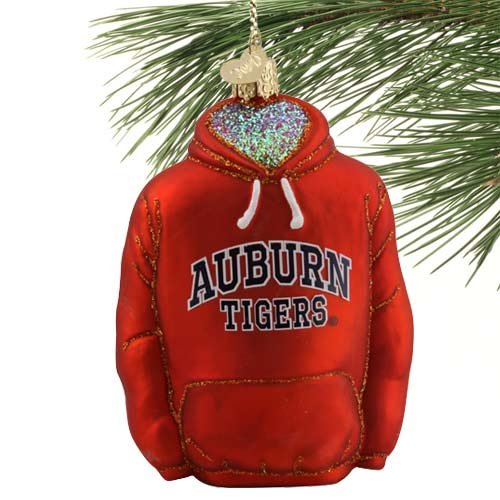 NCAA Auburn Tigers Glass Hoodie Ornament at Amazon.com