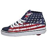 Heelys Boy's Hustle American Flag (Little Kid/Big Kid/Adult) Blue/White/Red Sneaker 13 Little Kid M
