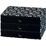 NIPS 110045251 ECO line SILVA Schubladenbox A4 mit 3 Schubladen, B 32,0 x T 24,5 x H 18,0 cm, schwarz/weiß