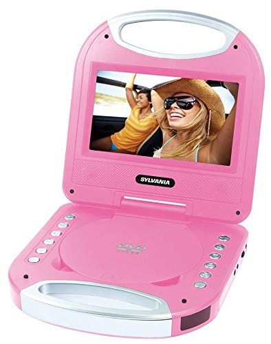 Sylvania SDVD7049 7-Inch Portable DVD Player with Handle, Pink (Portable Dvd Player Kids compare prices)