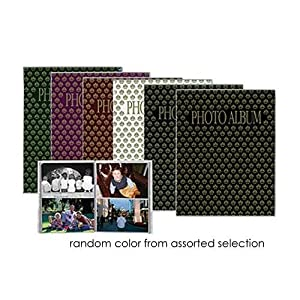 """Pioneer Flexible Cover Series Bound Photo Album, Random Designer Color Covers, Holds 64 4x6"""" Photos, 1 Per Page."""