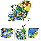 Hamaca para bebé vibratoria con función musical -Hamaca ajustable con 1 arco y juguetes educativos