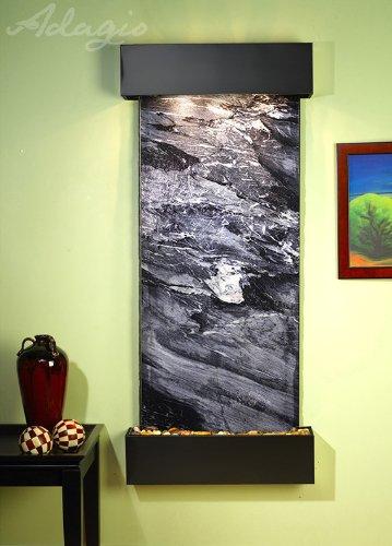 Adagio Inspiration Falls Fountain W/ Black Spider Marble In Blackened Copper Finish