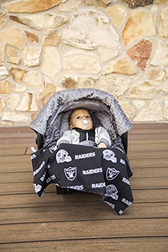 NFL Oakland Raiders The Whole Caboodle 5PC set - Baby Car Seat Canopy with matching accessories