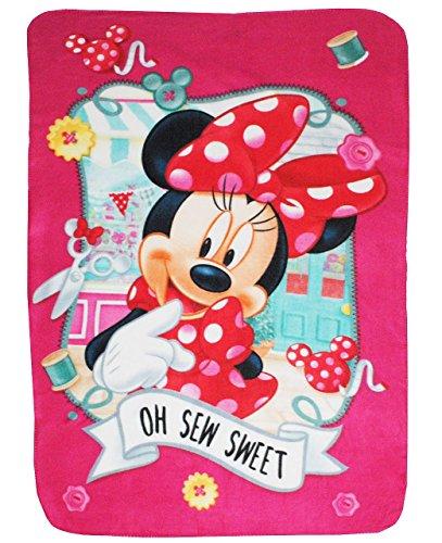 Kuscheldecke-Fleecedecke-Disney-Minnie-Mouse-100-cm-140-cm-Decke-aus-Fleece-fr-Mdchen-Schmusedecke-Schleife-Mdchendecke-Kinder-Plaid-Kinderdecke-Maus-Muse-Micky-Playhouse-pink-Tiere-Babydecke-Spieldec