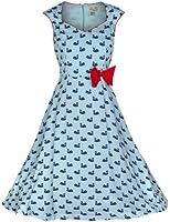 Lindy Bop 'Leda' Swan Imprimer Vintage 1950 Style Robe