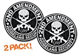 "2nd Amendment AR15 Decal AMERICAS ORIGINAL HOMELAND SECURITY Window Sticker-DECAL 4"" Round (2 PACK)"