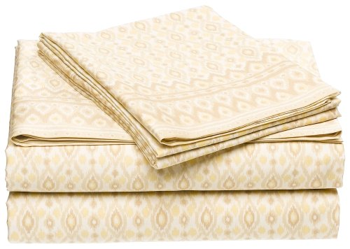 Michael Kors Bali 300-Thread-Count Cotton Sateen King Fitted Sheet front-344247