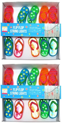 Huge Set of 20 Flip Flop String Lights Flipflop Party Patio Light Set