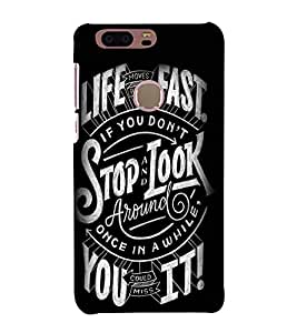 Stop And Look Around 3D Hard Polycarbonate Designer Back Case Cover for Huawei Honor 8
