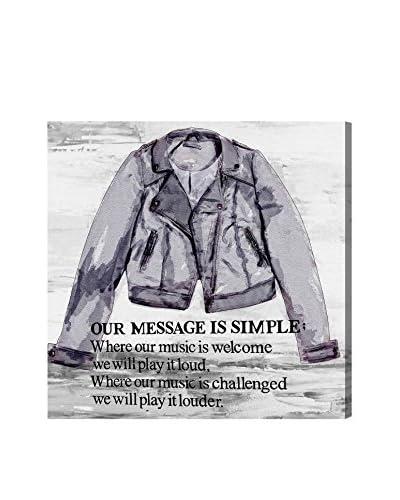 Oliver Gal Leather Jacket Canvas Art
